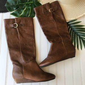 Steve Madden Intyce Leather Knee High Boots